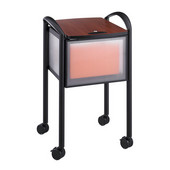 Impromptu Mobile File Cart with Locking Top, Black, 20-1/4''W x 21-1/2''D x 30-3/4''H