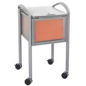 Impromptu Mobile File Cart with Locking Top, Gray, 20-1/4''W x 21-1/2''D x 30-3/4''H