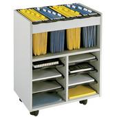 Go Cart Mobile File Cart, Gray, 21-1/2''W x 14-1/2''D x 26-1/4''H