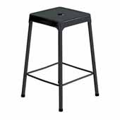 Steel Counter Height Stool, Black, 17-3/4''W x 17-3/4''D x 25''H