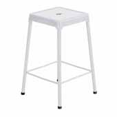 Steel Counter Height Stool, White, 17-3/4''W x 17-3/4''D x 25''H