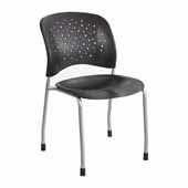 Reve™ Guest Chair Straight Leg Round Back, Black, 19''W x 23-1/2''D x 33-1/2''H - Set of 2