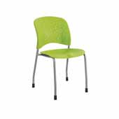 Reve™ Guest Chair Straight Leg Round Back, Green, 19''W x 23-1/2''D x 33-1/2''H - Set of 2