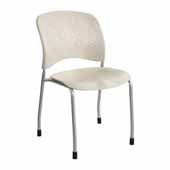 Reve� Guest Chair Straight Leg Round Back, Latte, 19''W x 23-1/2''D x 33-1/2''H - Set of 2