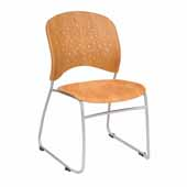 Reve™ Guest Chair Round Plastic Wood Back, Natural, 19-3/4''W x 23-1/2''D x 33-1/2''H - Set of 2