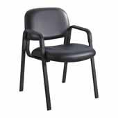Cava� Urth� Straight Leg Guest Chair, Black Vinyl, 22-1/2''W x 24''D x 32-1/2''H
