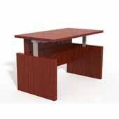 Aberdeen® Height-Adjustable Desk, Conference Front Top & Base, Cherry TF Laminate, 72''W x 36''D x 29-1/2'' to 49-1/4''H