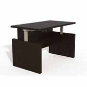 Aberdeen® Height-Adjustable Desk, Conference Front Top & Base, Mocha TF Laminate, 72''W x 36''D x 29-1/2'' to 49-1/4''H