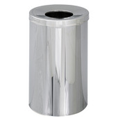 ®  Reflections 35-Gallon Open Top Trash Can, 29-1/2'' H x 18-1/2'' Dia., Chrome