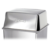 ® Push Top Lid For 36-Gallon Trash Can,18'' W x 18'' D x 9-3/8'' H , Brushed Stainless Steel