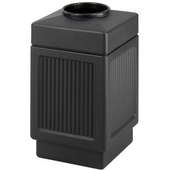® CanMeleon™ 38-Gallon Top Opening Outdoor Trash Can, 18-1/4'' W x 18-1/4'' D x 31-1/4'' H, Black