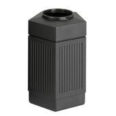 ® CanMeleon™ 30-Gallon Indoor/Outdoor Pentagon Trash Can, 18'' W x 18-1/2'' D x 28-3/4'' H, Black