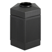 ® CanMeleon™ 45-Gallon Indoor/Outdoor Pentagon Trash Can, 24'' W x 23'' D x 31-1/2'' H, Black
