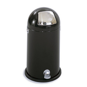 ® 12-Gallon Dome Step-On Trash Can, 28-1/2'' H x 16-1/2'' Dia., Black