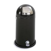 ® 12-Gallon Dome Step-On Trash Can, 28-1/2'' H x 16-1/2'' Dia., Black