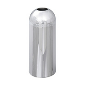 - 15-Gallon Open Top Dome Receptacle, Chrome