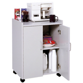 Wood Mobile Refreshment Center/Machine Cart, 23'' W x 18'' D x 31'' H, Gray