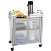 Impromptu Mobile Refreshment Cart, 30-1/4'' W x 19-1/2'' D x 36-3/4'' H, Silver
