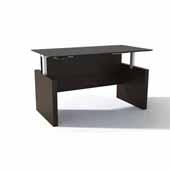 Medina™ Height-Adjustable Straight Front Desk, Mocha Laminate, 63''W x 36''D x 29-1/2'' to 47-1/4''H