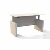 Medina™ Height-Adjustable Straight Front Desk, Textured Sea Salt Laminate, 63''W x 36''D x 29-1/2'' to 47-1/4''H