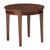 Sorrento End Table, Bourbon Cherry Veneer, 24''W x 24''D x 24''H