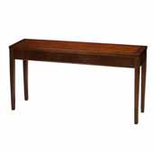 Sorrento Sofa Table, Bourbon Cherry Veneer, 16''W x 60''D x 30''H