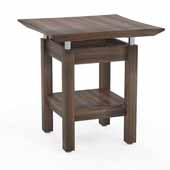 Sterling End Table, Textured Brown Sugar Laminate, 24''W x 24''D x 25''H