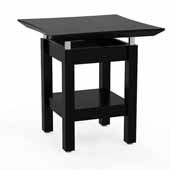Sterling End Table, Textured Mocha Laminate, 24''W x 24''D x 25''H