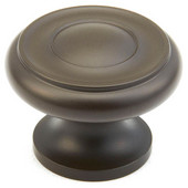 700 Series Traditional Collection 1-1/4'' Diameter Cabinet Round Knob in Oil Rubbed Bronze, 1-1/4'' Diameter x 7/8'' D x 3/4'' Base Diameter
