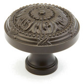 Versailles Collection 1-1/2'' Diameter Round Cabinet Knob in Oil Rubbed Bronze, 1-1/2'' Diameter x 1-1/4'' D x 5/8'' Base Diameter