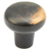 Mountain Collection 1-1/4'' Diameter Round Cabinet Knob in Antique Bronze, 1-1/4'' Diameter x 1-1/8'' D x 1/2'' Base Diameter