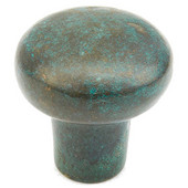 Mountain Collection 1-1/4'' Diameter Round Cabinet Knob in Verde Imperiale, 1-1/4'' Diameter x 1-1/8'' D x 1/2'' Base Diameter