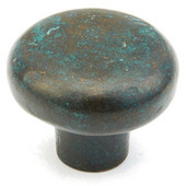 Mountain Collection 1-5/8'' Diameter Round Cabinet Knob in Verde Imperiale, 1-5/8'' Diameter x 1-1/4'' D x 5/8'' Base Diameter