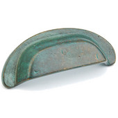 Mountain Collection 4-1/8'' W Cabinet Cup Pull in Verde Imperiale, 4-1/8'' W x 1'' D x 1-3/4'' H