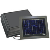 Solar Dynamics 1600 CFM Remote Mounted for Self Flash Mount Solar Powered Attic Ventilator, Black Panel (Super Hawk), Grey