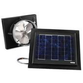 Solar Dynamics 1275 CFM, Gable Mount Solar Powered Attic Ventilator, Black Panel (Super Hawk), Black Finish