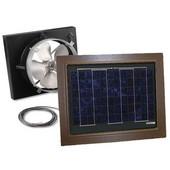 Solar Dynamics 1275 CFM, Gable Mount Solar Powered Attic Ventilator, Black Panel (Super Hawk), Brown Finish