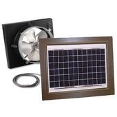 Solar Dynamics 1275 CFM, Gable Mount Solar Powered Attic Ventilator, White Panel (Super Cyclone), Brown Finish