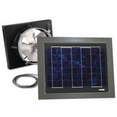 Solar Dynamics 1275 CFM, Gable Mount Solar Powered Attic Ventilator, Black Panel (Super Hawk), Grey Finish