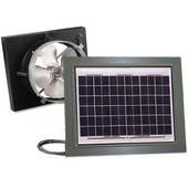 Solar Dynamics 1275 CFM, Gable Mount Solar Powered Attic Ventilator, White Panel (Super Cyclone), Grey Finish