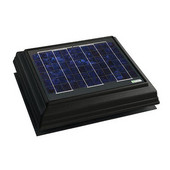 Solar Dynamics 1275 CFM Roof Surface Mounted Solar Powered Attic Ventilator, Black Panel (Super Hawk), Black