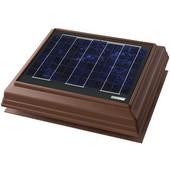 Solar Dynamics 1275 CFM Roof Surface Mounted Solar Powered Attic Ventilator, Black Panel (Super Hawk), Brown