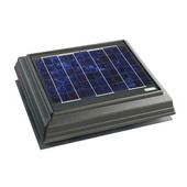 Solar Dynamics 1275 CFM Roof Surface Mounted Solar Powered Attic Ventilator, Black Panel (Super Hawk), Grey