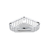 Triangle Bathroom Basket in Chrome Finish, 7-3/4'' W x 7-3/4'' D x 2-1/2'' H