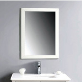 Dawn Traditional Solid Wood Frame Bathroom Mirror In Beige White Finished