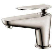 Single-Lever Lavatory Faucet, Brushed Nickel (Standard pull-up drain with lift rod D90 0010BN included)