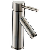 1 Hole Single-Lever Lavatory Faucet and Pull-Up Drain with Lift Rod, Brushed Nickel Finish