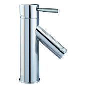 1 Hole Single-Lever Lavatory Faucet and Pull-Up Drain with Lift Rod , Chrome Finish