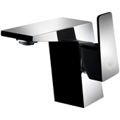 Single Hole Bathroom Faucet in Chrome and Matte Black Finish