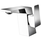 Single Hole Bathroom Faucet in Chrome and White Finish